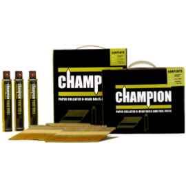 Champion Smooth Bright Gun Nails 2.8x51mm  3300 Pack (3 Fuel Cells)