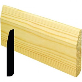 Chamfered/Pencil Rounded Skirting 25x150